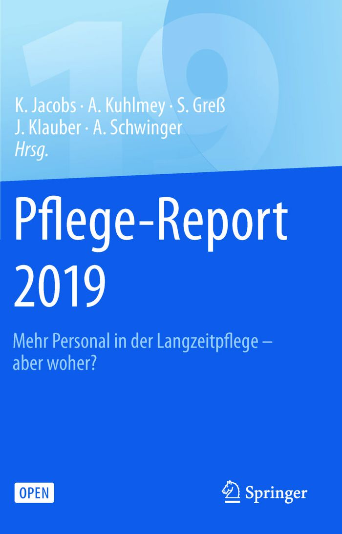 Cover des Pflege-Reports 2019